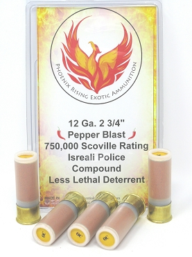 Pepper Blast Shotgun Ammunition 12 Gauge 2 3/4