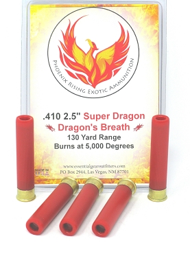 """Super Dragon"" Dragon's Breath Ammunition .410 Gauge 2 1/2"